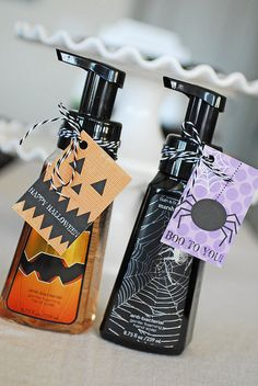 Halloween soaps (with twine and printable by @TheTwinery