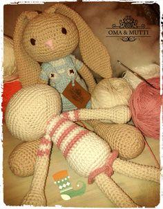 Conejos amigurumis, crochet