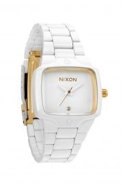 Nixon - Zegarek Small Player All White/Gold All White, White Gold, Comfortable Shoes, Gold Watch, Jewelry Watches, Stuff To Buy, Magpie, Sea Foam, Flakes