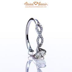 Gorgeous Brian Gavin Signature Hearts & Arrows round cut diamond