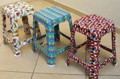 painted chairs - Arte com Quiane Painted Chairs, Painted Furniture, Diy Furniture, Modern Furniture, Decorated Chairs, Mosaic Furniture, Home Crafts, Diy Home Decor, Diy And Crafts