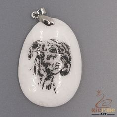 FASHION NECKLACE BLACK PAINTING DOG PENDANT WHITE GEMSTONE ZL7001522 #ZL #PENDANT