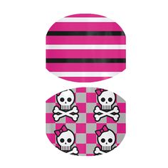 Stripes and Skulls  nail wraps by Jamberry Nails - I got this for the girls so cute