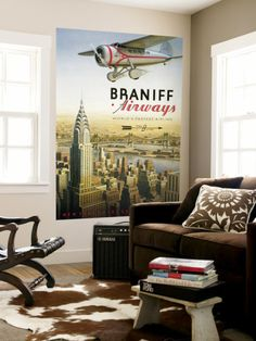 Perfect combo for my living room... airplanes and NYC