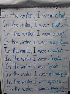 Discuss and list what people do to prepare for winter/what they wear to stay warm