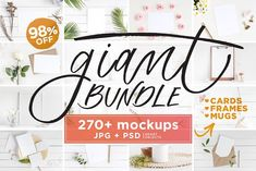 Mockups Giant Bundle - 270+ JPG/PSD by Gabriela Dantur on @creativemarket