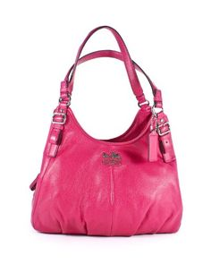 Coach Madison Leather Maggie Shoulder Tote Fuchsia « Holiday Adds