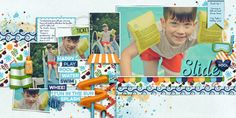 Water Park by Kristin Aagard http://scraporchard.com/market/digital-scrapbooking-kit-waterpark.html Font is Always In My Heart  Watch me scrap this layout: http://youtu.be/B1pSuWujtSU
