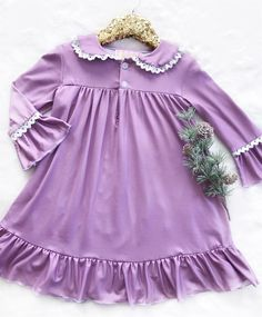 Purple Vintage Christmas Long Sleeved Night Gown    What used to be grandma's favorite design has been redesigned with love to curate the most precious