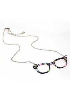 Black Glasses Necklace