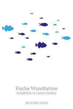 Fische Wanddekoration, Set mit 24 Stück in 2 Farben, vielen Farbkombination möglich. Mehr Infos im Shop! Movie Posters, Art, Animal Themes, Room Wall Decor, Pisces, Patterns, Colors, Art Background, Film Poster