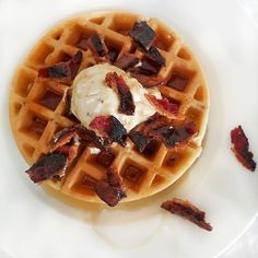 When your waffles need a little extra something... Sprinkle some @FarmerJohnLA Bacon on top! #thebaconparty