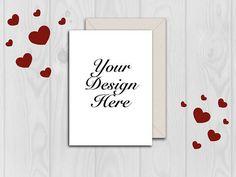 Mockup Card mockup Valentine mockup Wedding card mockup #cardmockup #mockup Envelope Mockup, Wedding Cards, Your Design, Unique Jewelry, Frame, Handmade Gifts, Etsy, Home Decor, Wedding Ecards