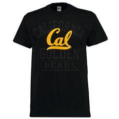 Men's New Agenda Black Cal Bears Blackout Focus T-Shirt
