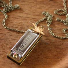 Christine Domanic Jewelry - Mini songbird harmonica necklace