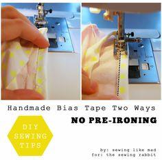 Handmade Bias Tape Two Ways DIY