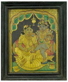 Yashodha Krishna Tanjore Paintings