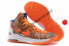 Cheap Buy Orange Nike Zoom KD 5 iD Offers New Graphic Pattern Festive Price