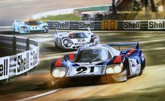 Porsche, Martini, Le Mans, Automobile, Bike Art, Automotive Art, Car And Driver, Vintage Racing, Car Wallpapers
