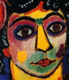 Alexej von Jawlensky - Astonishment, 1919. Expressionism, Der Blaue Reiter, Die Blaue Vier.