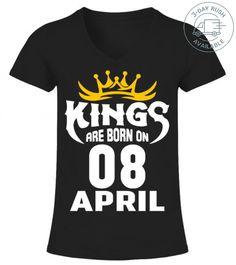 4eca06435 10 Best KINGS ARE BORN ON 08 APRIL T-SHIRT images | T shirt bra, T ...