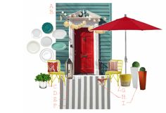 June's Front Door color inspiration, Delineate Your Dwelling #June #reddoor #color