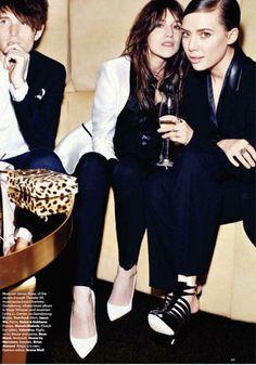 James Blake, Charlotte Gainsbourg & Lykke Li.