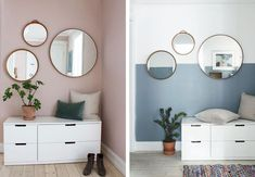 A thousand and one ways to decorate with round mirrors you'll love - Decor Scan : The new way of thinking about your home and interior design Home Interior, Decor Interior Design, Decor Room, Bedroom Decor, Cozy Apartment Decor, Victorian Decor, Home Room Design, Elegant Homes, Room Paint