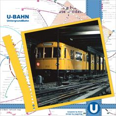 "U-Bahn / Subway - ""U""-template by wondertalk.de"
