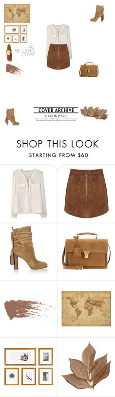 """Untitled #32"" by aleylelluyah ❤ liked on Polyvore featuring MANGO, Miss Selfridge, Michael Kors, Yves Saint Laurent, Bliss Studio and Gucci"