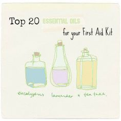 Here is a list of myTop 20 Essential Oils for First Aid kits. The summer is here and vacations are upon us. First Aid kits are important for all types of travel. If you are traveling with children accidents always seem to happen! This rule applies