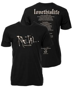 "Men's ""Metal Manifesto"" S/S: Black (Final Markdown - No Exchange Or Return)"