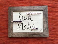 Abacus style kitchen rosary - gift for mom - Catholic gift - purple frame rosary Catholic Crafts, Catholic Kids, Diy Religious Gifts, Advent Catholic, Catholic School, Catholic Prayers, Nocturne, Diy Gifts, Gifts For Mom