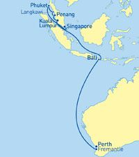 CARNIVAL - Singapore to Fremantle 12 Nights Red Hot Cruise Deals