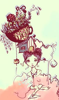 #art #tea #teatime #cup #tazza #illustration #teaparty