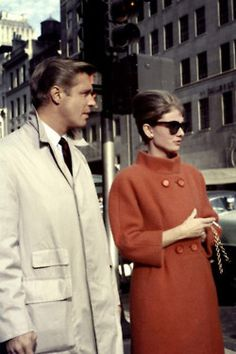 SO. CLASSY. Great coat(s). Also love her hair and, of course, her sunglasses!