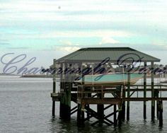 Boat Dock Charleston SC   signed color matted by CharminglyDixie, $10.00