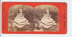 Cute Little Girl Dolly Doll Old Stereoview Photo Stein's Dollar Store | eBay