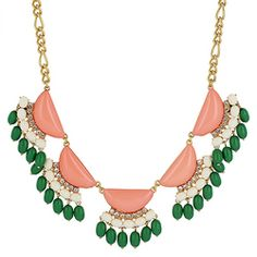 Multi Stone Drop Statement Necklace [EHN4514ORGN] : Wholesale24x7.com - Fashion Scarves and Accessories Wholesale, One Stop Wholesale Shopping for Scarves, Jewelry and Fashion Accessories!