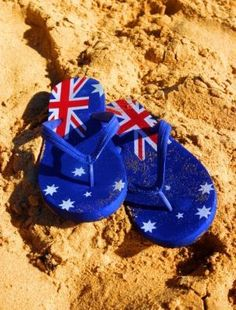 Australian flag thongs