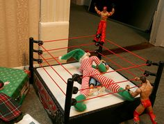 Homemade Toy Wrestling Ring