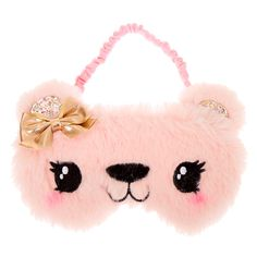 Let the pink bear from our Claire's Club collection take you to dreamland with this plush sleeping mask! It has a comfortable elastic strap to keep it secure on your head all night long Baby Girl Toys, Toys For Girls, Cute Sleep Mask, Unicorn Fashion, Baby Doll Accessories, Unicorn Costume, Mermaid Blanket, Cat Costumes, Craft Stick Crafts