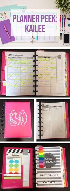 Take a peek inside Kailee's beautiful planner!