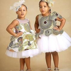 Charming Ankara Clothing for Kids - Ani Exclusive Baby African Clothes, African Dresses For Kids, Latest African Fashion Dresses, African Kids, Baby Girl Dress Patterns, Baby Girl Dresses, Baby Dress, Cute Kids Fashion, Look Fashion