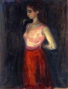 Study of a Model Edvard Munch,1898  ______________________________ ♥♥♥ deniseweb.free.fr ♥♥♥