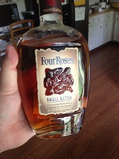 Four Roses Small Batch - 90 proof - Sweet vanilla nose and smooth, warm taste with sweet accents. Mid- rim finish but after a seemingly even tingle, giving it an after kick that's nice. Strong in the belly. Very serviceable.