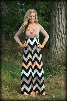 Fall Maxi Multi Color Dress