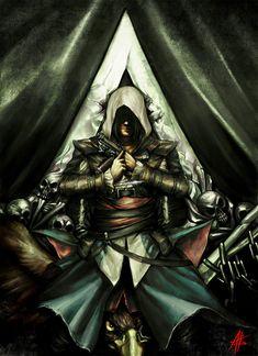 "Absolumterror (DeviantArt): ""Assassin's Creed IV: Black Flag ~ Bleeding Effect"" Assassins Creed Black Flag, Assassins Creed Series, Assassins Creed Unity, Geeks, Assasins Cred, Connor Kenway, All Assassin's Creed, Edwards Kenway, Cosplay"