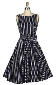 Vintage Boat Neck Polka Dot Print Bow Sleeveless Rockabilly Dress (AS . - Evening Dresses and Fashion 50s Dresses, Pretty Dresses, Beautiful Dresses, Fashion Dresses, Dresses Online, Vestidos Vintage, Rockabilly Dress, Rockabilly Vintage, 50s Vintage