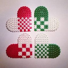 Christmas ornaments hama perler beads by nordpaa Perler Bead Templates, Diy Perler Beads, Perler Bead Art, Perler Patterns, Pearler Beads, Fuse Beads, Christmas Perler Beads, Beaded Christmas Ornaments, Beading For Kids
